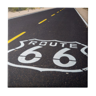 Route 66 highway marker, Arizona Tile