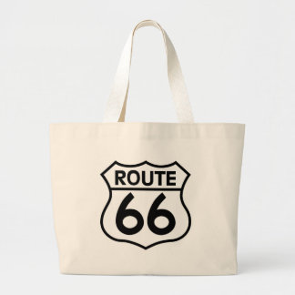 Route 66 Highway Sign Apparel & Gifts Jumbo Tote Bag