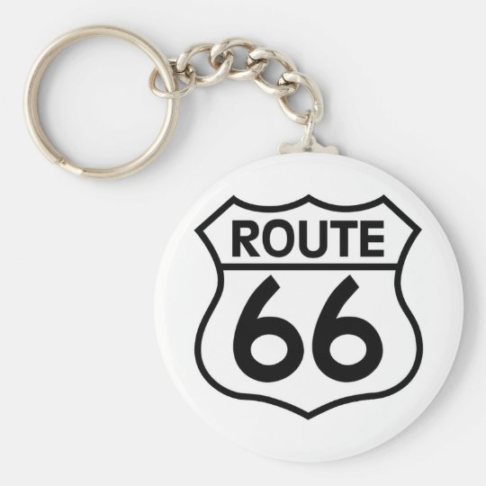 Route 66 Highway Sign Apparel & Gifts Keychain
