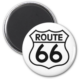 Route 66 Highway Sign Apparel & Gifts Magnet