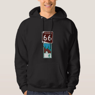 Route 66 - Historic 66 & Scenic Road Hoodie