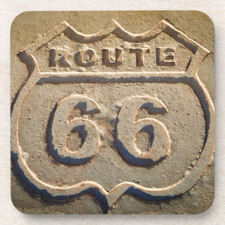 Route 66 historic sign, Arizona Beverage Coaster