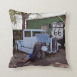 Route 66 Hot Rod Pickup Truck Pillows