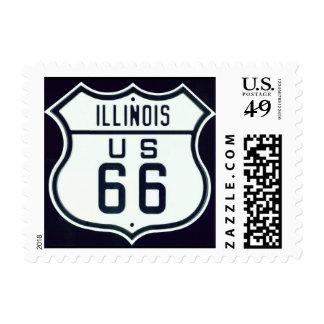 Route 66 Illinois Postage