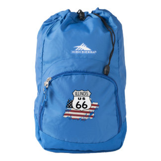 Route 66 Illinois Sign. High Sierra Backpack