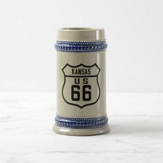 Route 66 - Kansas Beer Stein