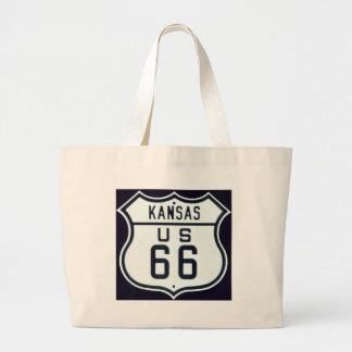 Route 66 Kansas Jumbo Tote Bag