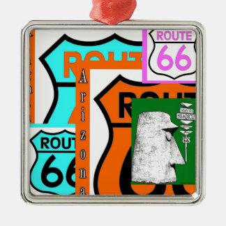 Route 66 Kingman Giganticus Headicus AZ Metal Ornament