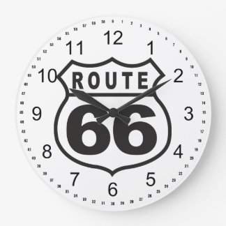 Route 66 large clock