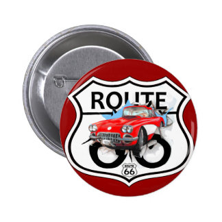 Route 66 life style love the freedom 2 inch round button