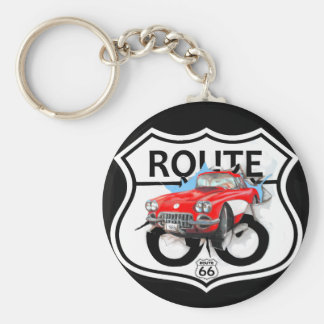 Route 66 life style love the freedom basic round button keychain