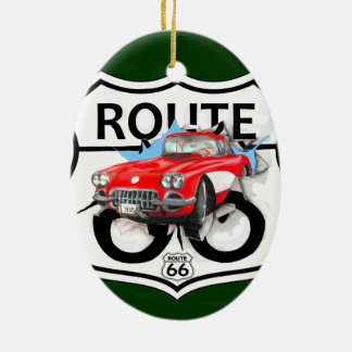 Route 66 life style love the freedom ceramic ornament