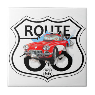 Route 66 life style love the freedom ceramic tile