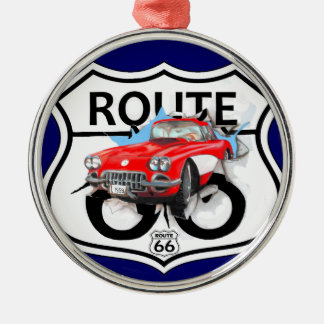 Route 66 life style love the freedom metal ornament
