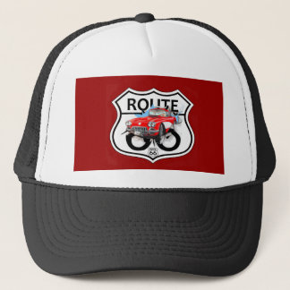 Route 66 life style love the freedom trucker hat