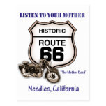 Route 66-Listen to your mother- Needles Postcards