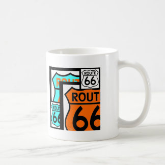 Route 66 Mix Shield Black Coffee Mug