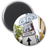 Route 66 Mother Road 2 Inch Round Magnet