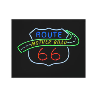 Route 66 Mother Road Canvas Print
