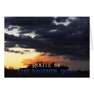 Route 66  Mother Road Card