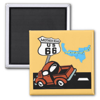 Route 66 - Mother Road Refrigerator Magnet