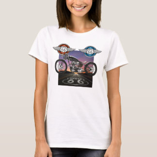 Route 66 - Motorcycle - SRF T-Shirt