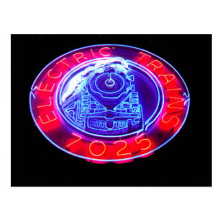 Route 66 Neon Sign, Berwyn Toys & Trains Postcard