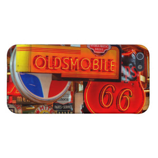 Route 66 Neon Signs Oldsmobile iPhone 5/5s Case