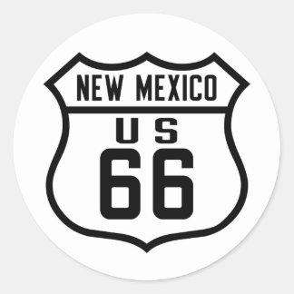 Route 66 - New Mexico Classic Round Sticker