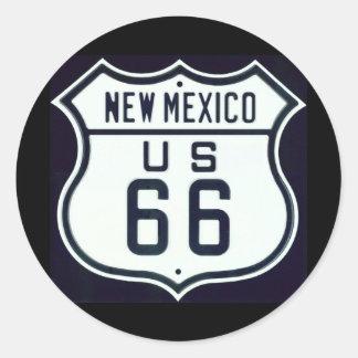 Route 66 New Mexico Round Sticker