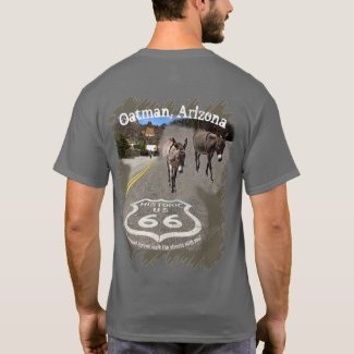 Route 66 Oatman Arizona Burros On The Street T-Shirt