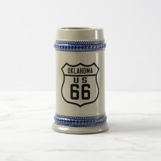 Route 66 - Oklahoma Beer Stein