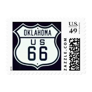 Route 66 Oklahoma Postage