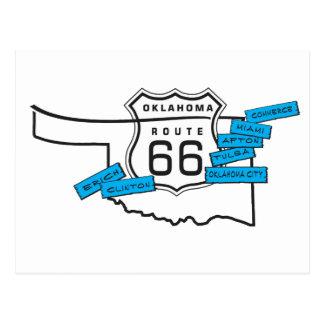 route 66 Oklahoma postcard
