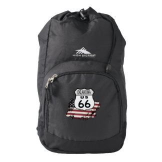 Route 66 Oklahoma Sign. Backpack