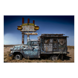 Route 66 Old Truck Poster