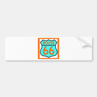 Route 66 orange and turquoise Customize it! Bumper Sticker