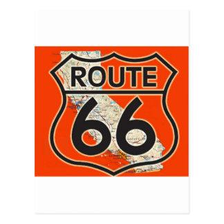 Route 66 Orange California Postcard