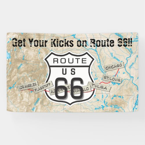 Route 66 outdoor banner