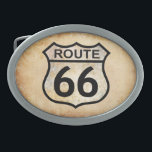 "Route 66 oval belt buckle<br><div class=""desc"">More Route 66 items available at:  www.zazzle.com/aura2000/route66</div>"