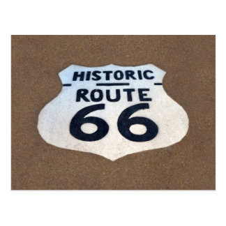 Route 66 Pavement Sign, Springfield, Illinois Postcard