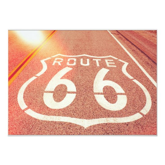 Route 66 Photo Edit - Orange Glow Card