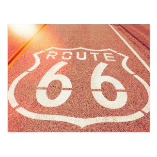 Route 66 Photo Edit - Orange Glow Postcard
