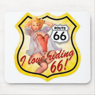 Route 66 Pin-Up Girl MousePad