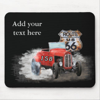 Route 66 racing to car gifts mouse pad