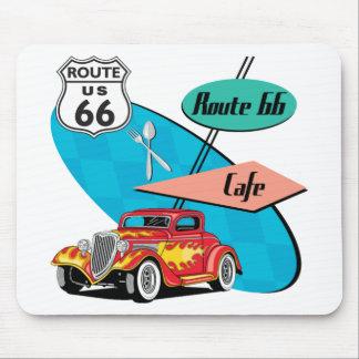 Route 66 Red Hot Rod Café Mouse Pad