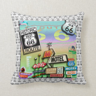 ROUTE 66 Reversible PILLOWS by PopArtDiva