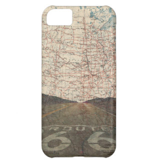 Route 66 Road Map iPhone Cover iPhone 5C Cover