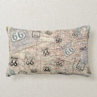 Route 66 Road Map Pillow