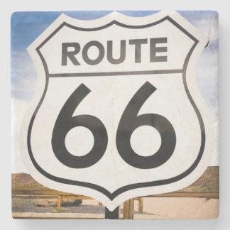 Route 66 road sign, Arizona Stone Coaster